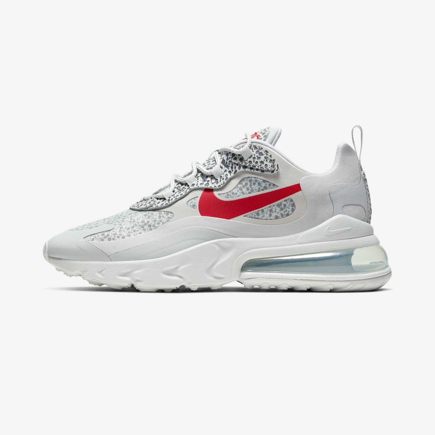 Nike Air Max 270 React 'Safari' Neutral Grey / Light Graphite/Platinum Tint / University Red CT2535-001