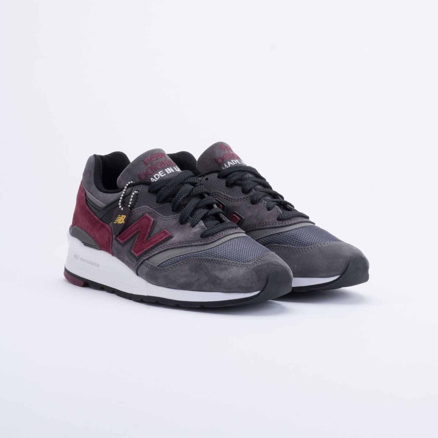 New Balance M997 Made in USA Charcoal/Burgundy M997CCF-43