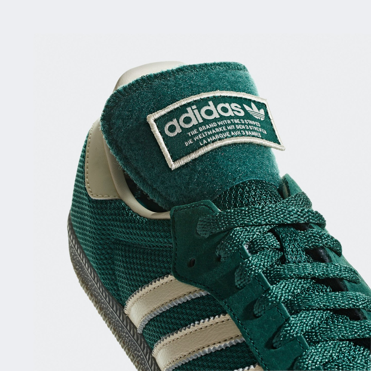 Adidas Samba LT 'Velcro Tongue' Police Green / Off White B44674