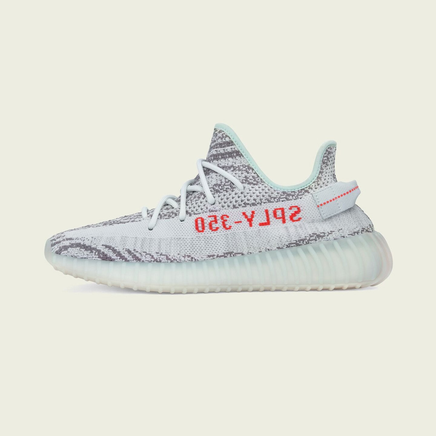 Adidas Yeezy Boost 350 V2 'Blue Tint' Blue Tint/Grey Three/High Resolution Red B37571