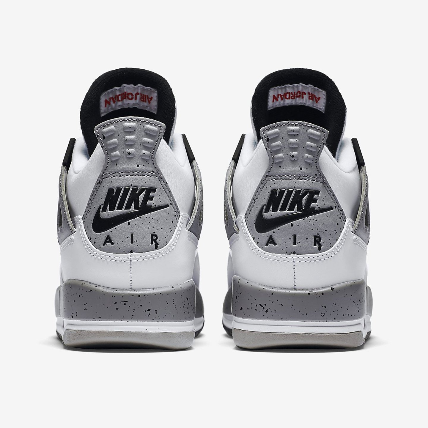 Nike Air Jordan 4 Retro GS Cement White / Fire Red / Tech Grey / Black 836016-192-38