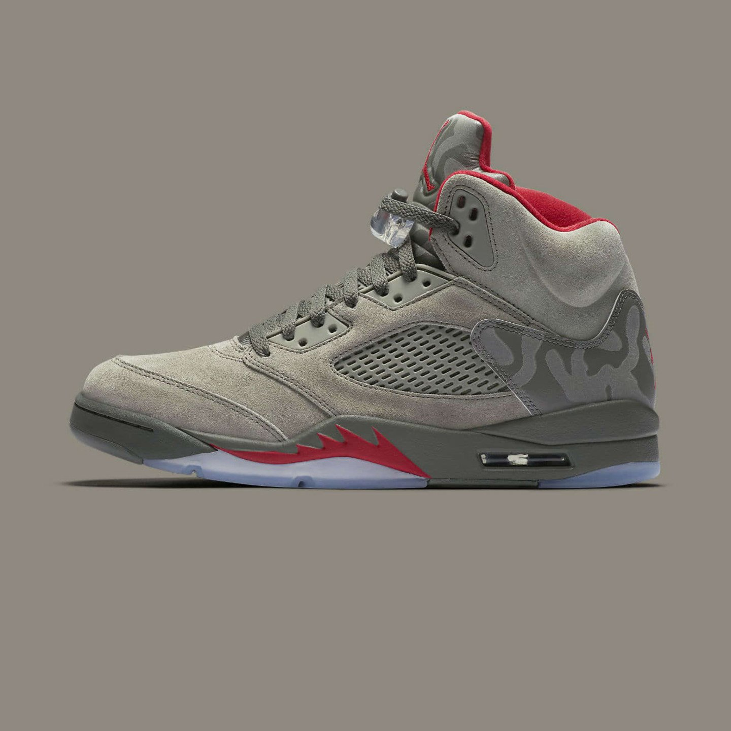 Jordan Air Jordan 5 Retro 'Fighter Jet Camo' Dark Stucco / Fire Red 136027-051