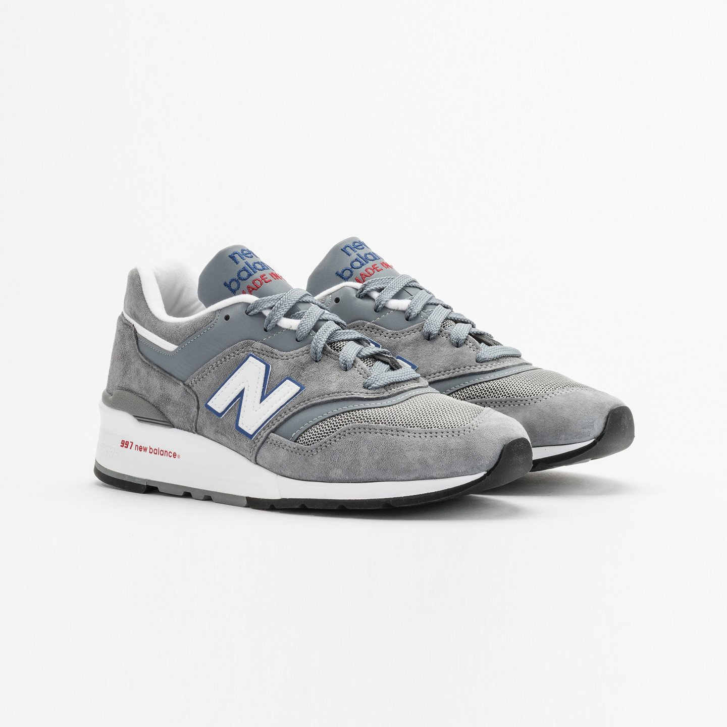 New Balance M997 Made in USA Grey / Blue / Red M997CNR-45.5