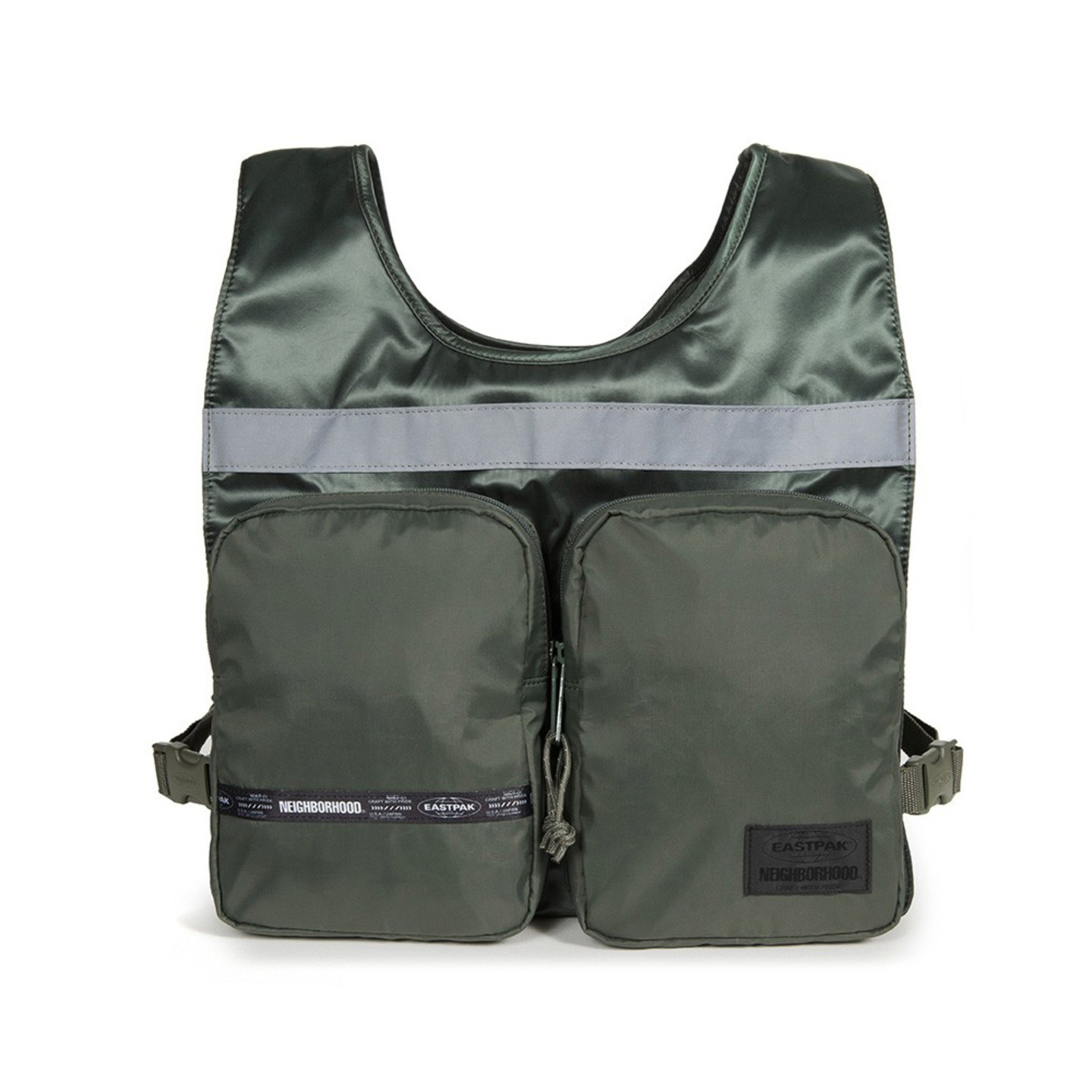 Eastpak NBHD Vest Bag Flight Jacket Olive EK84EA67