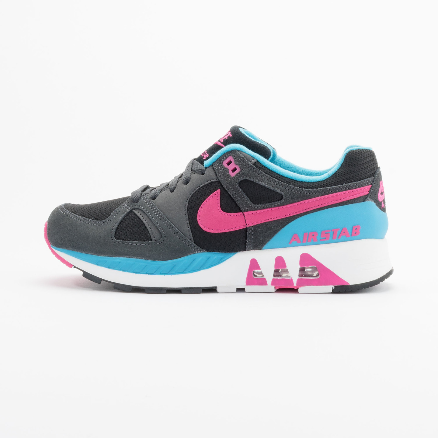 Nike Air Stab Black/Hot Pink-Anthrct-Bl Lgn 312451-004-40