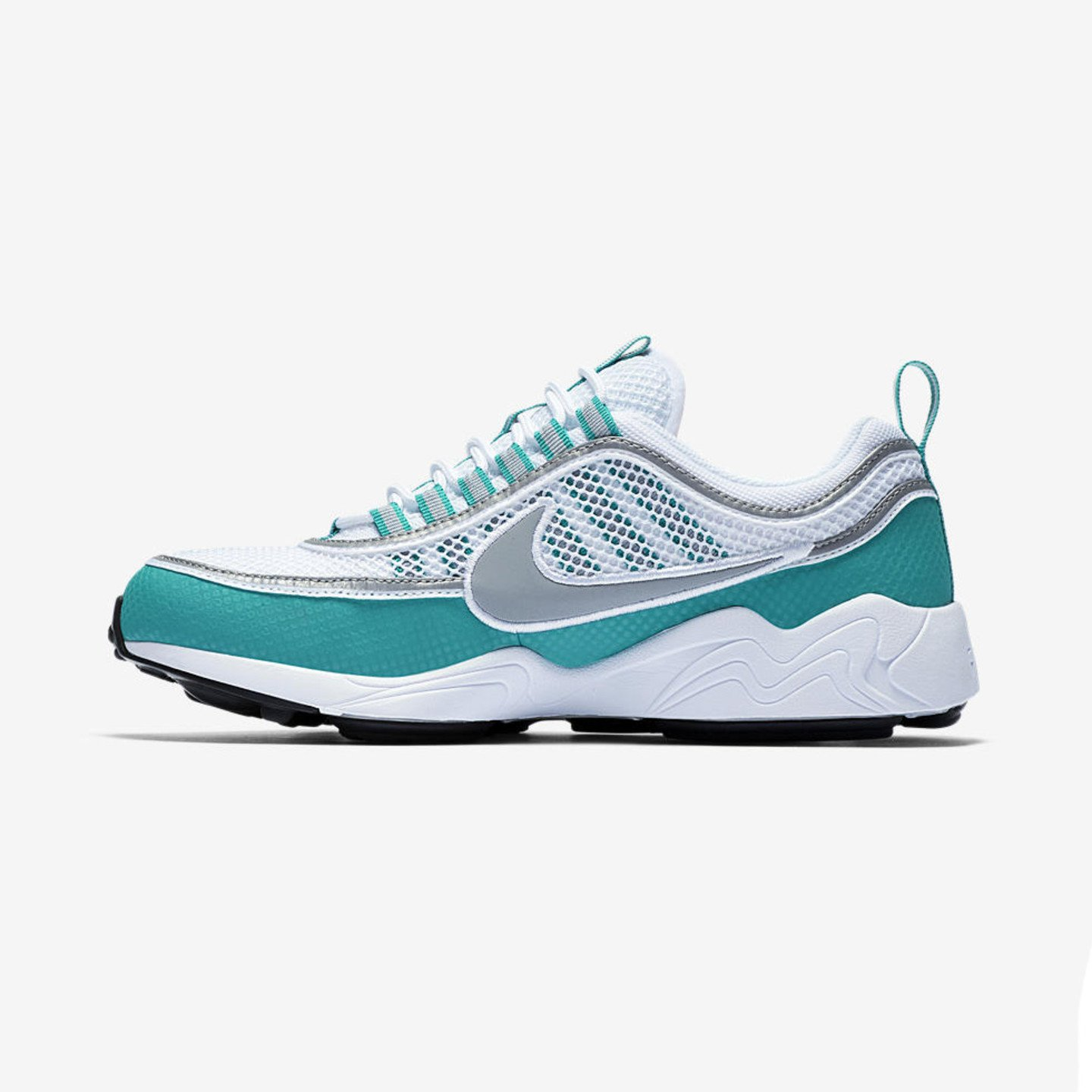 Nike Air Zoom Spiridon White / Silver / Turbo Green / Laser Orange 849776-102-42