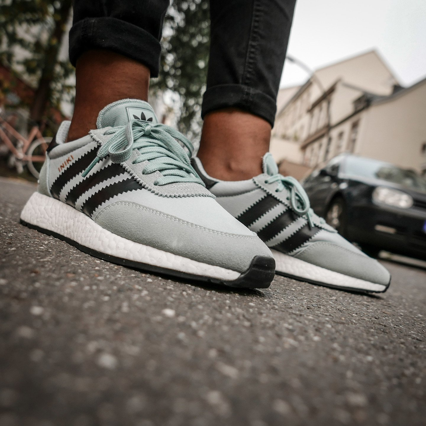 Adidas Iniki Runner W Tactile Green / Core Black / White  BY9096