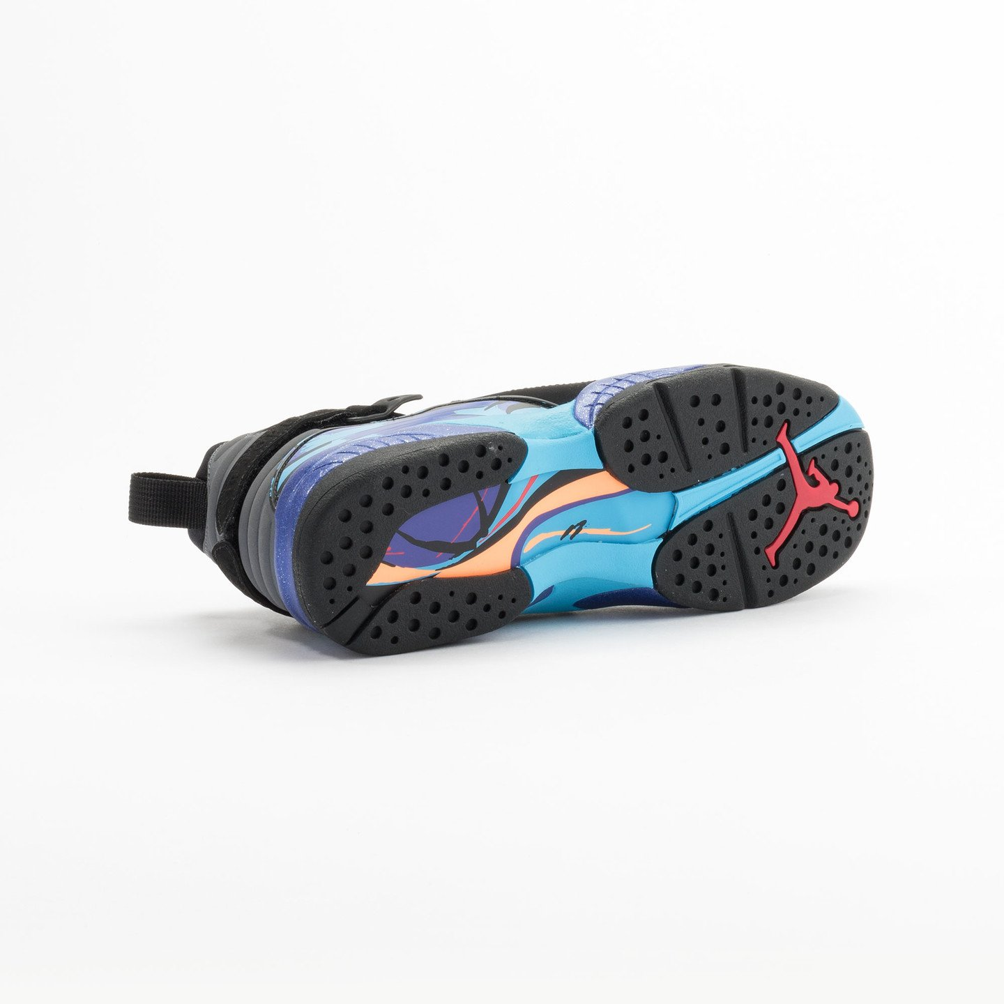Jordan Air Jordan Retro 8 'Aqua' BG Black/True Red-Flint Grey-Bright Concord 305368-025-38