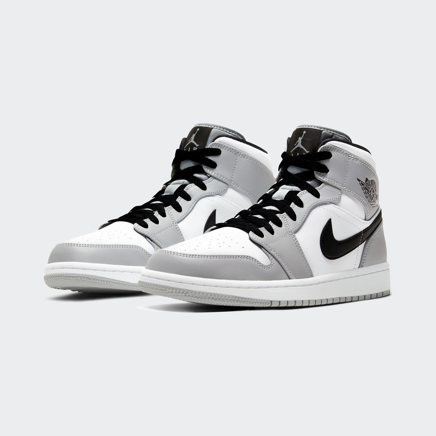 Jordan Air Jordan 1 Mid Light Smoke Grey / Black / White 554724-092