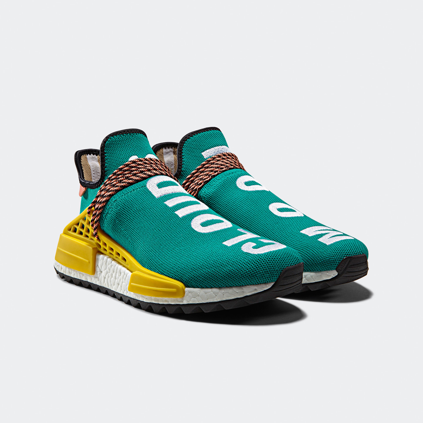 Adidas Pharrell Williams 'Human Race' NMD Aqua / Yellow / White AC7188