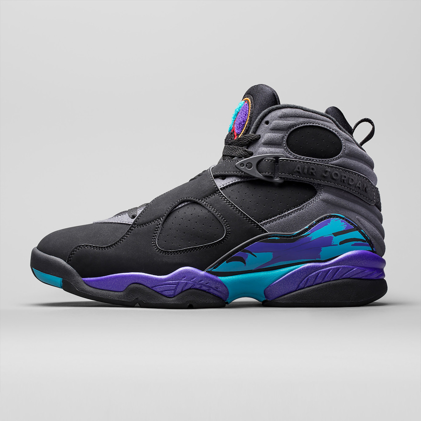 Jordan Air Jordan Retro 8 'Aqua' Black/True Red-Flint Grey-Bright Concord 305381-025-42.5