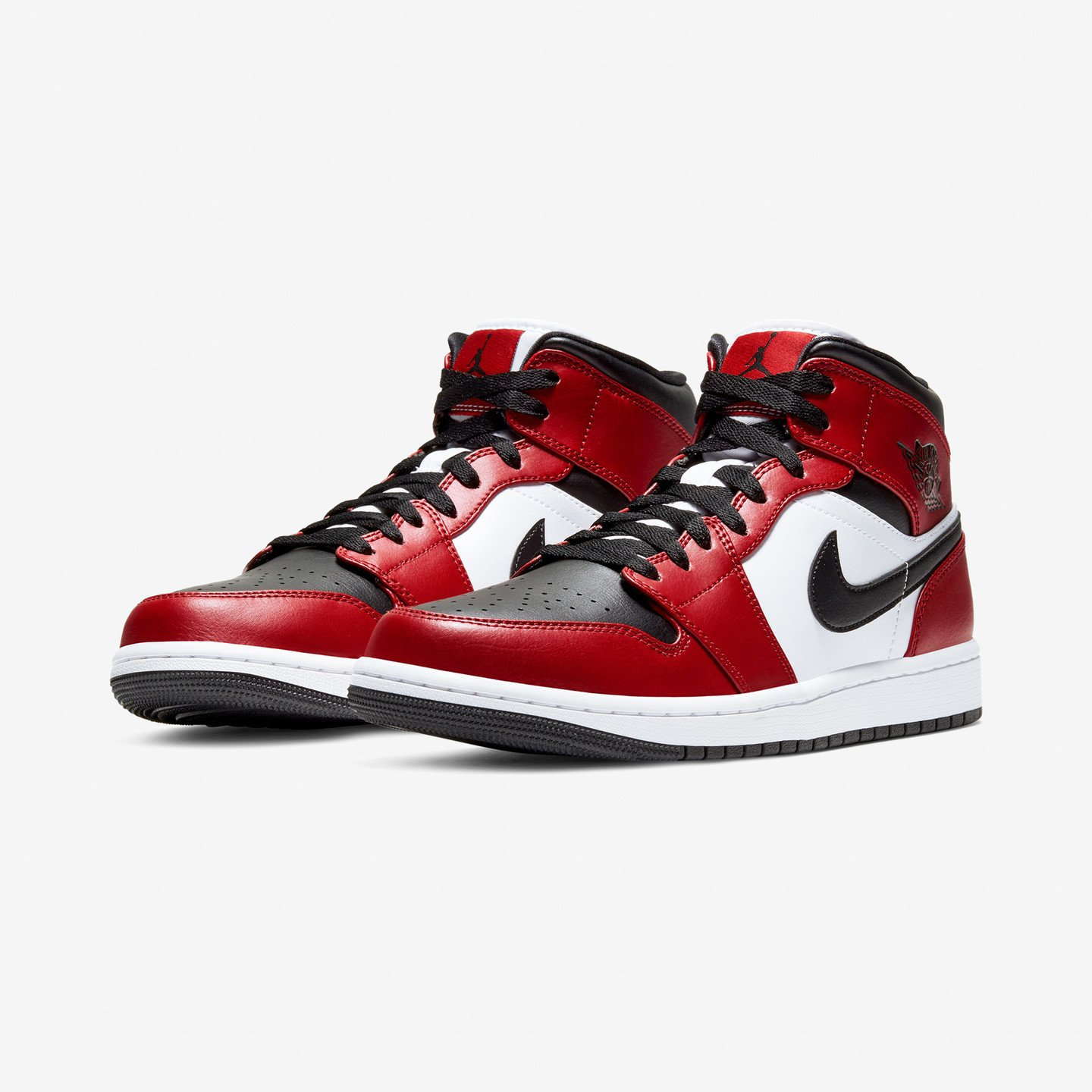 Jordan Air Jordan 1 Mid Black / Black / Gym Red 554724-069