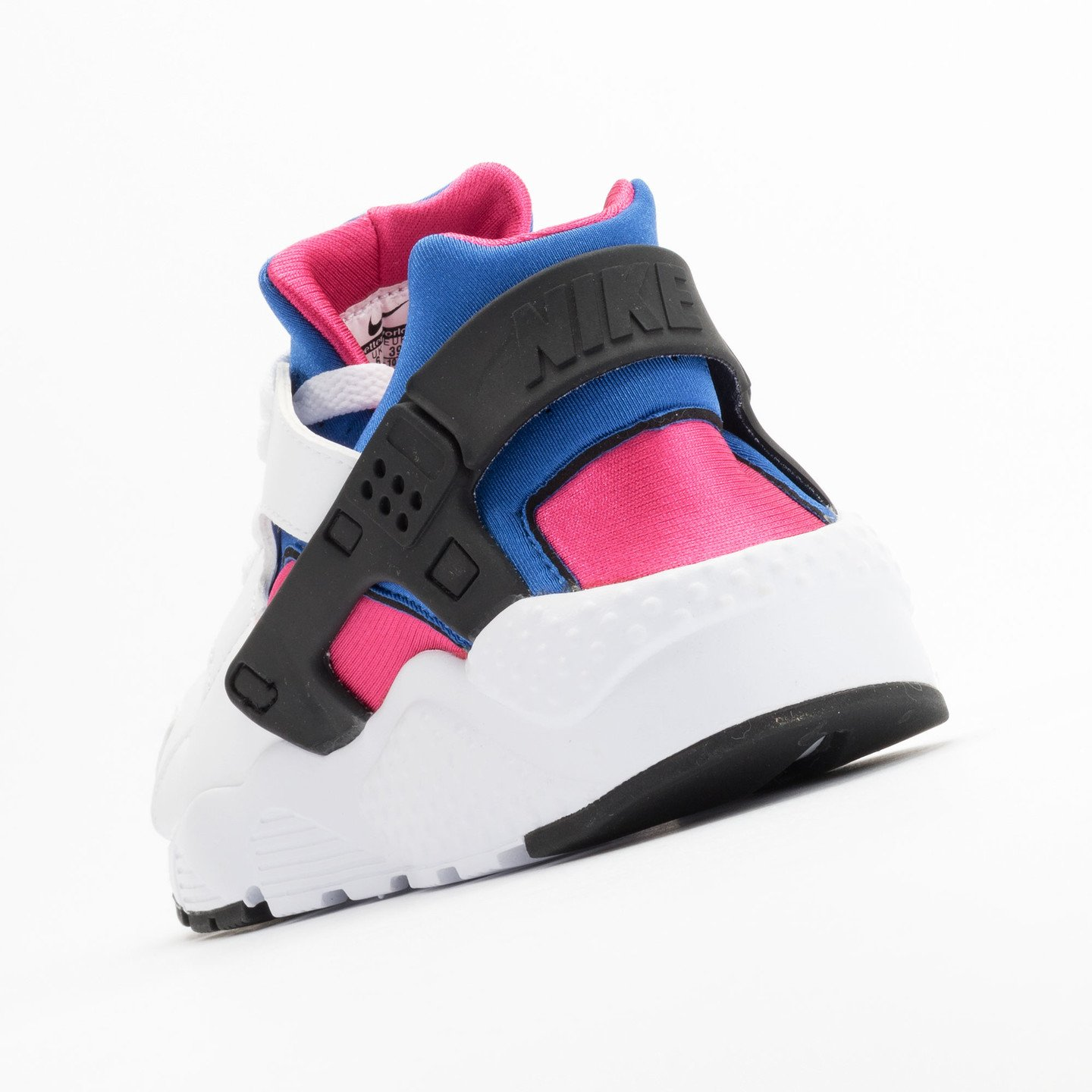 Nike Huarache Run GS White / Black / Game-Royal / Vivid-Pink 654275-106-39