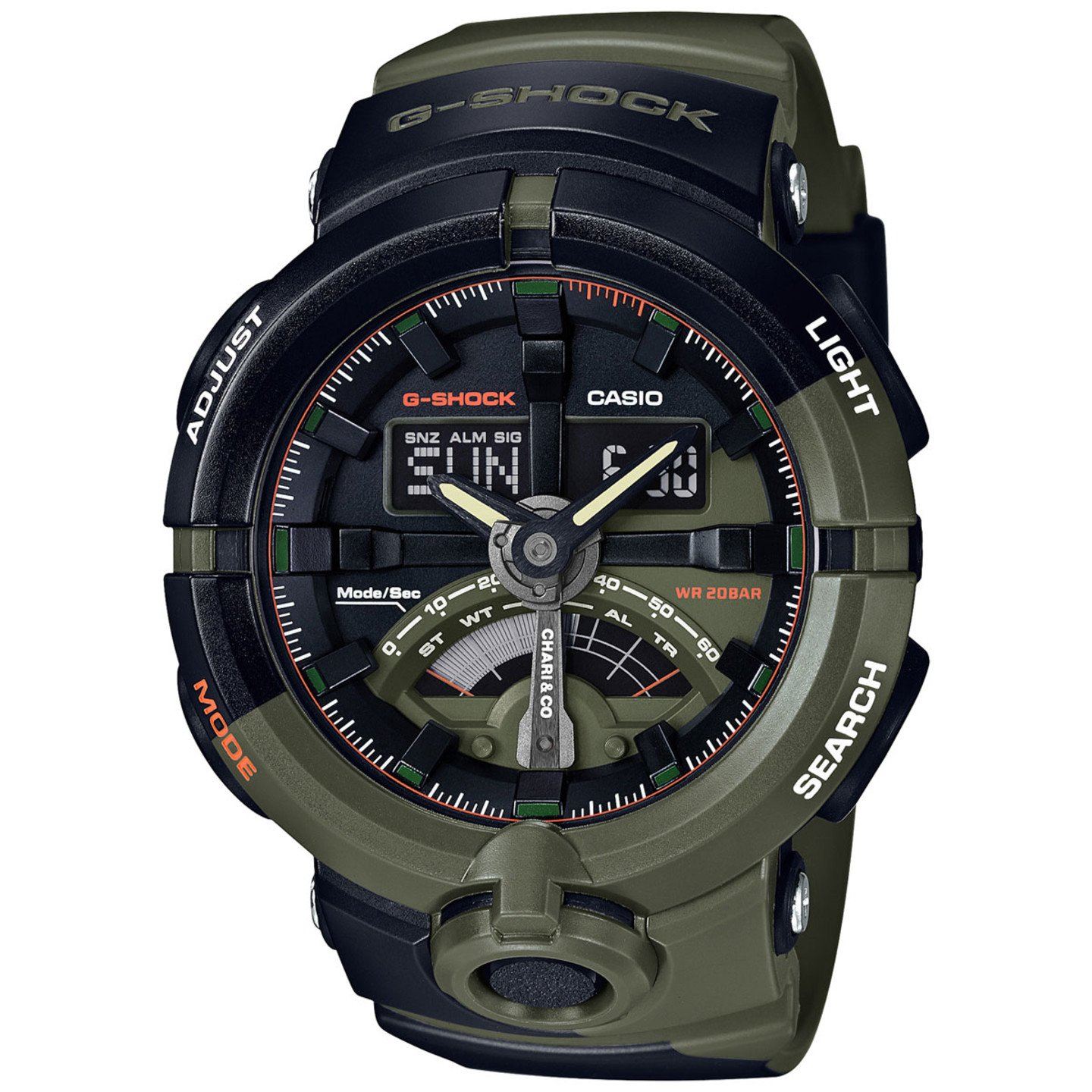 Casio G-Shock x Chari & Co Military Olive / Black GA-500K-3AER