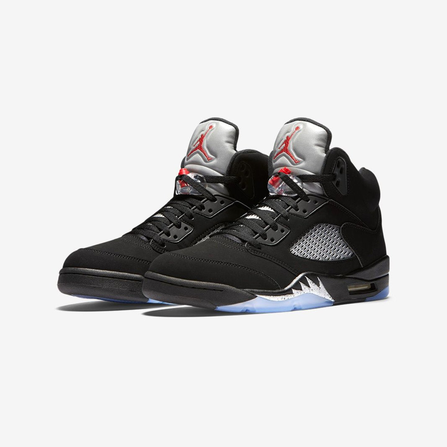 Jordan Air Jordan 5 Retro OG 'Metallic Silver' Black / Metallic Silver / Fire Red 845035-003-42
