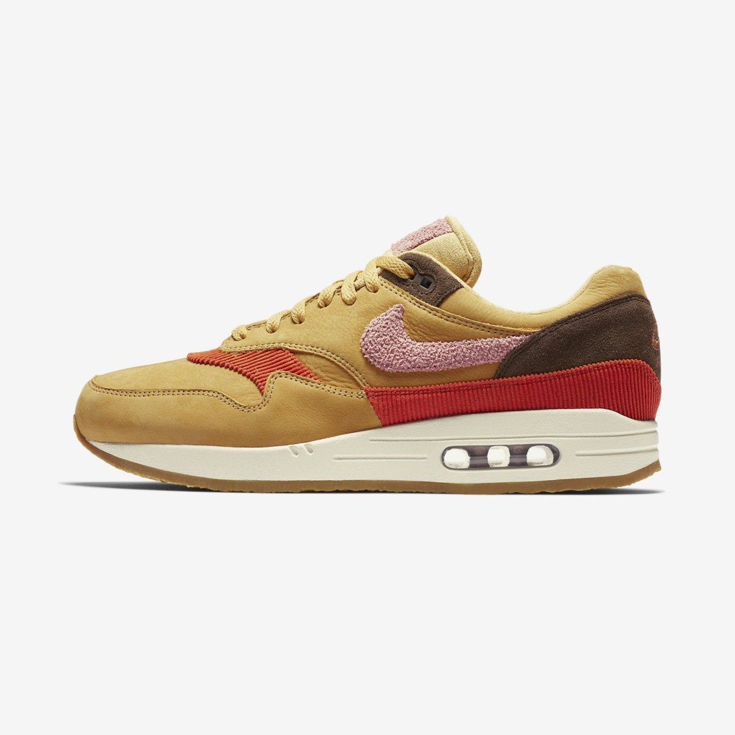 Nike Air Max 1 Crepe Wheat Gold / Rust Pink / Baroque Brown CD7861-700