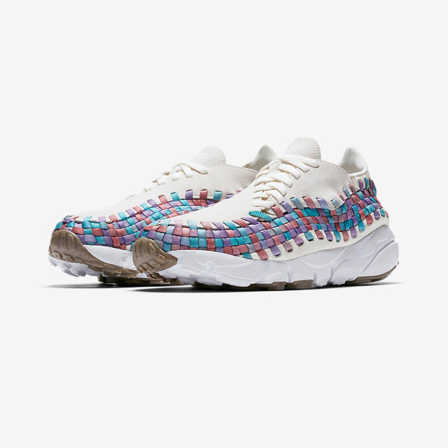 Nike Wmns Air Footscape Woven 'Multicolor' Sail / White / Red / Stardust 917698-100