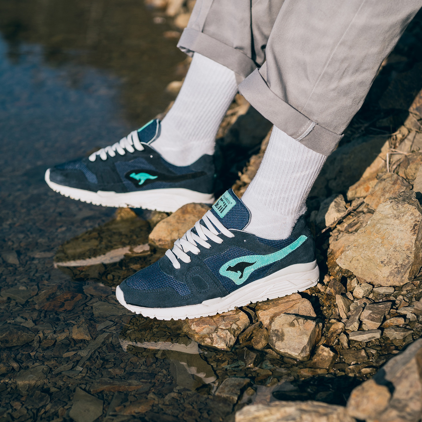 KangaROOS Omnirun x Bracenet 'Ocean 72' - Made in Germany Navy / Turquoise / White 47020 000 4406