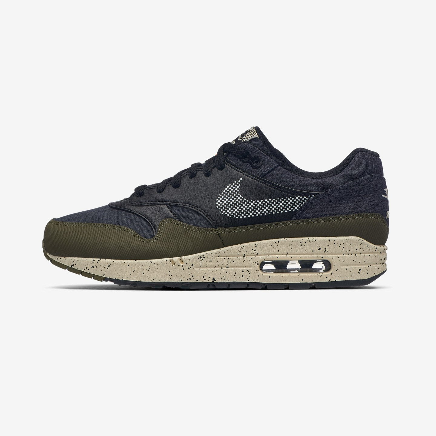 Nike Air Max 1 SE 'Reflective Ripstop' Medium Olive / Light Cream / Black AO1021-200