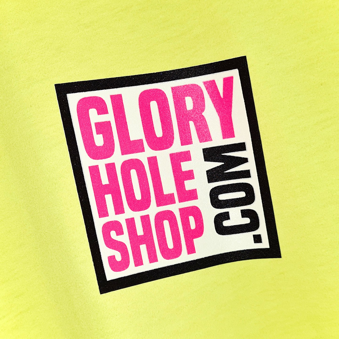 Glory Hole Logo Tee Citrus Lime / Scream Pink / Black / White GHSS-TS-CTRS-001