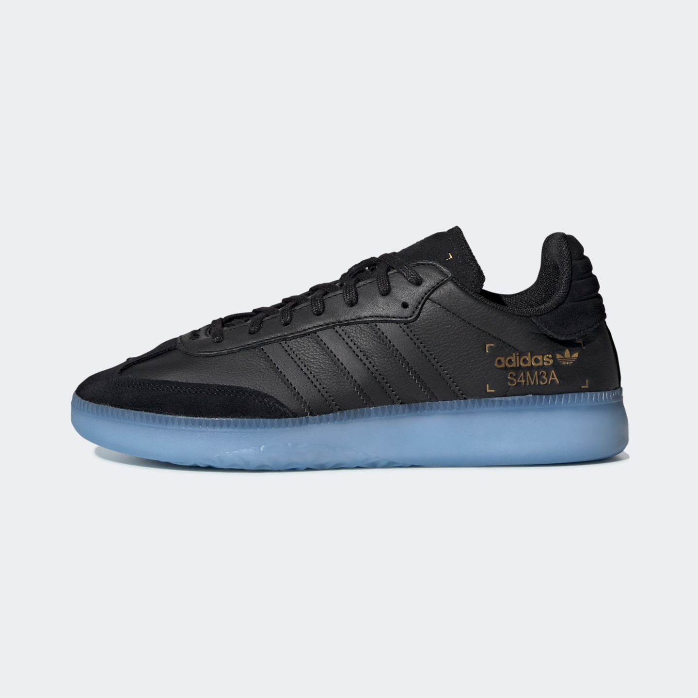 Adidas Samba RM Core Black / Shock Cyan / Gold Metallic BD7476