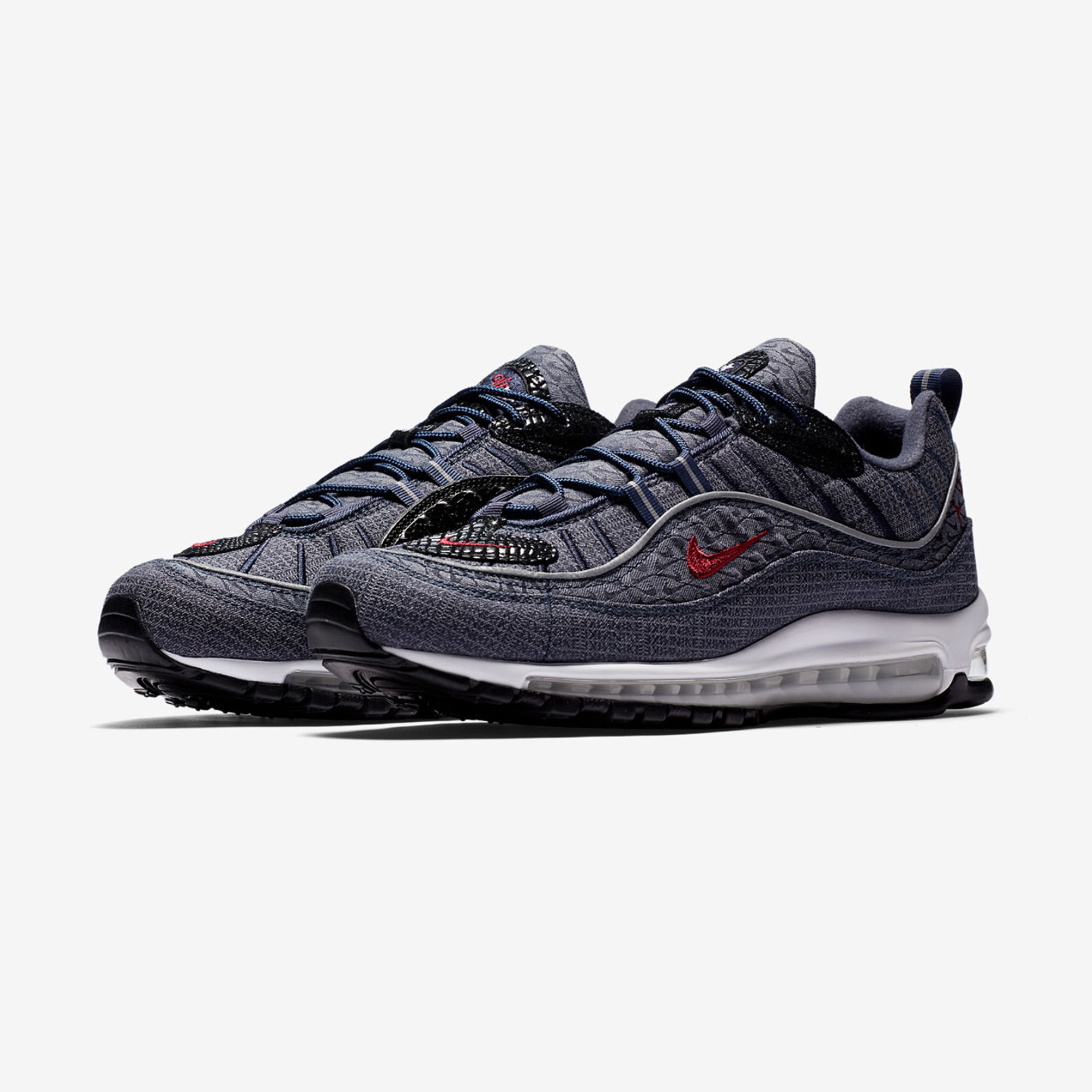 Nike Air Max 98 QS 'Don Denim' Thunder Blue / Team Red / Diffused Blue 924462-400
