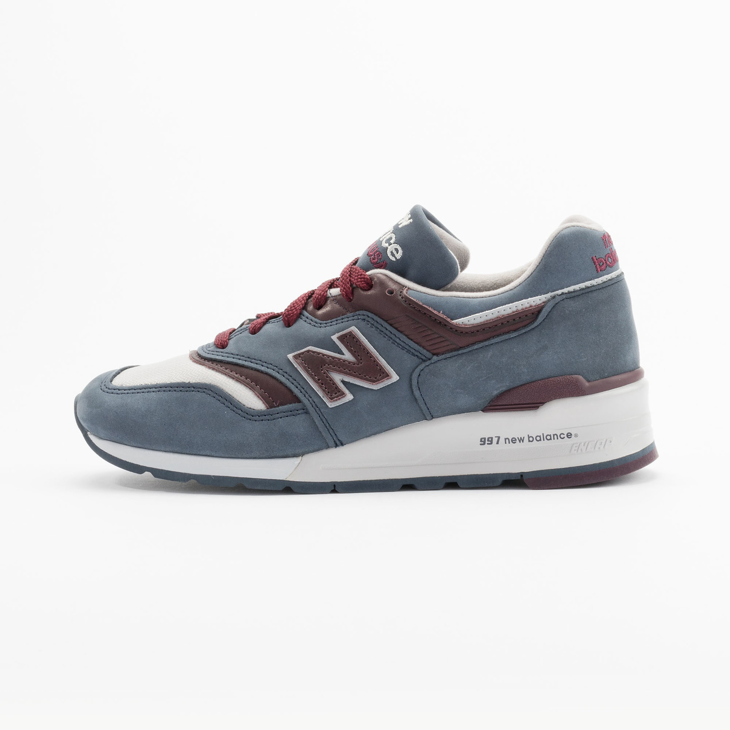 New Balance M997 DGM - Made in USA Grey Steel / Burgundy M997DGM-41.5