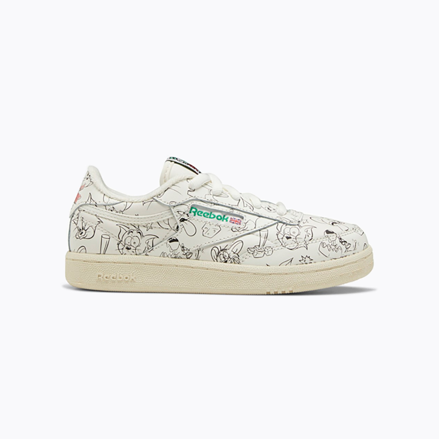 Reebok Club C Revenge 'Tom & Jerry' Chalk / Paper White / Excellent Red FX4011