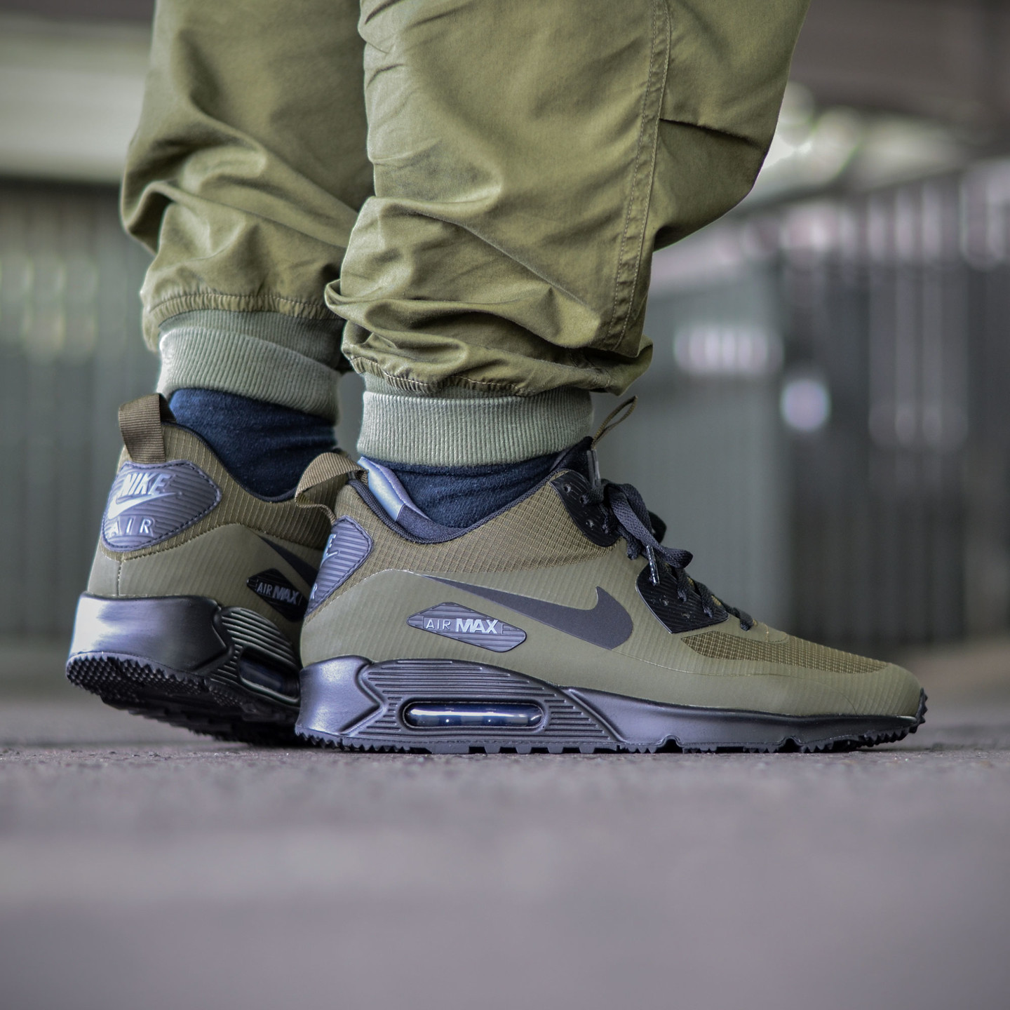 Nike Air Max 90 Mid Sneakerboot Dark Loden / Black / Dark Grey 806808-300-44