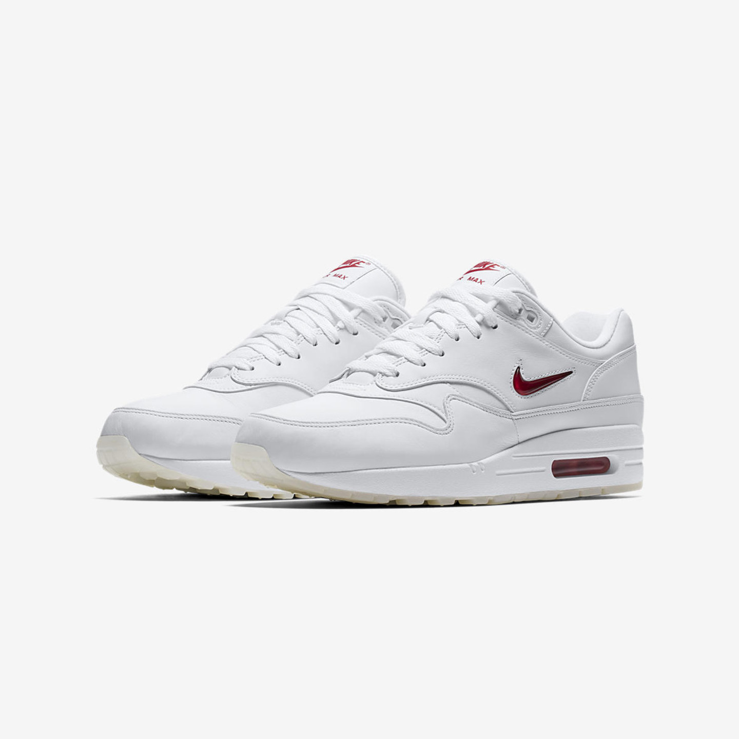 Nike Air Max 1 Jewel QS 'Rare Ruby' White / University Red 918354-104