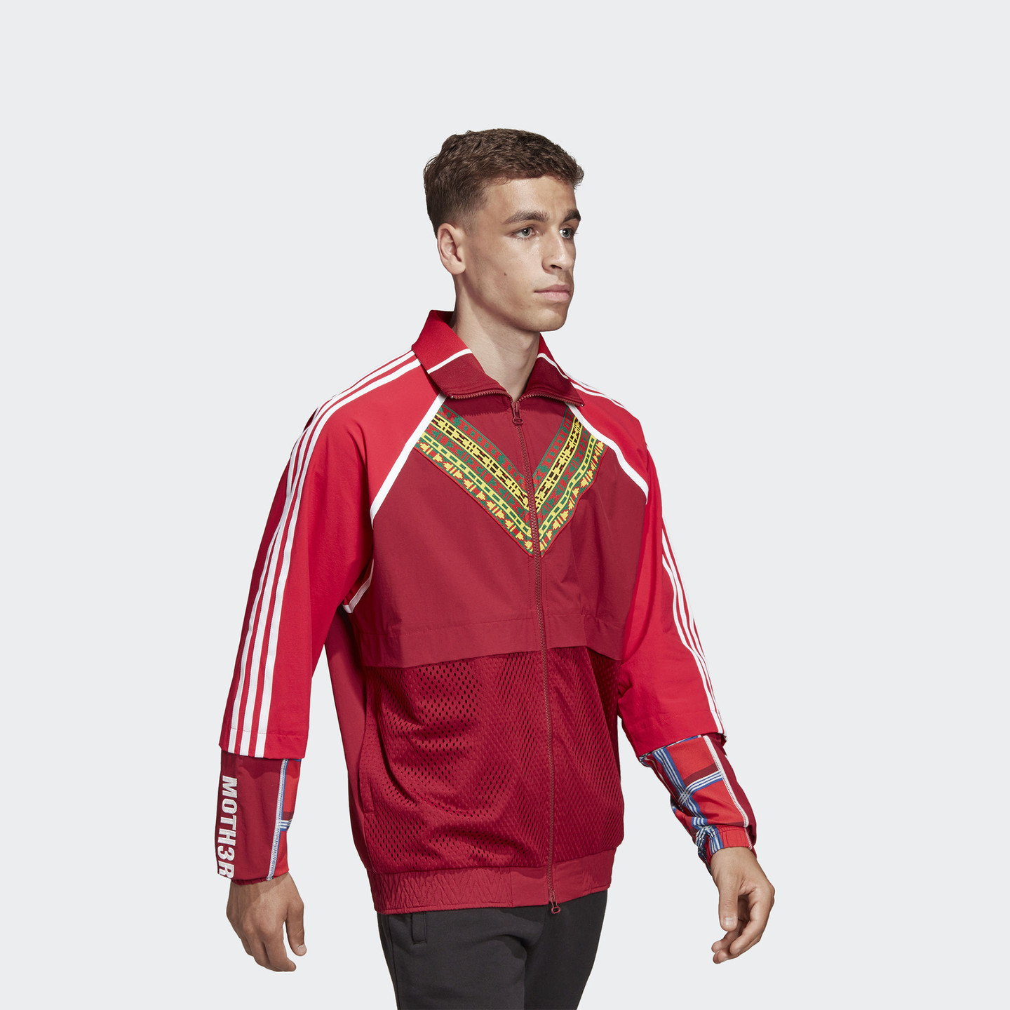 Adidas Pharrell Williams 'Solar HU' Track Top Collegiate Burgundy / Yellow / Green DW9037