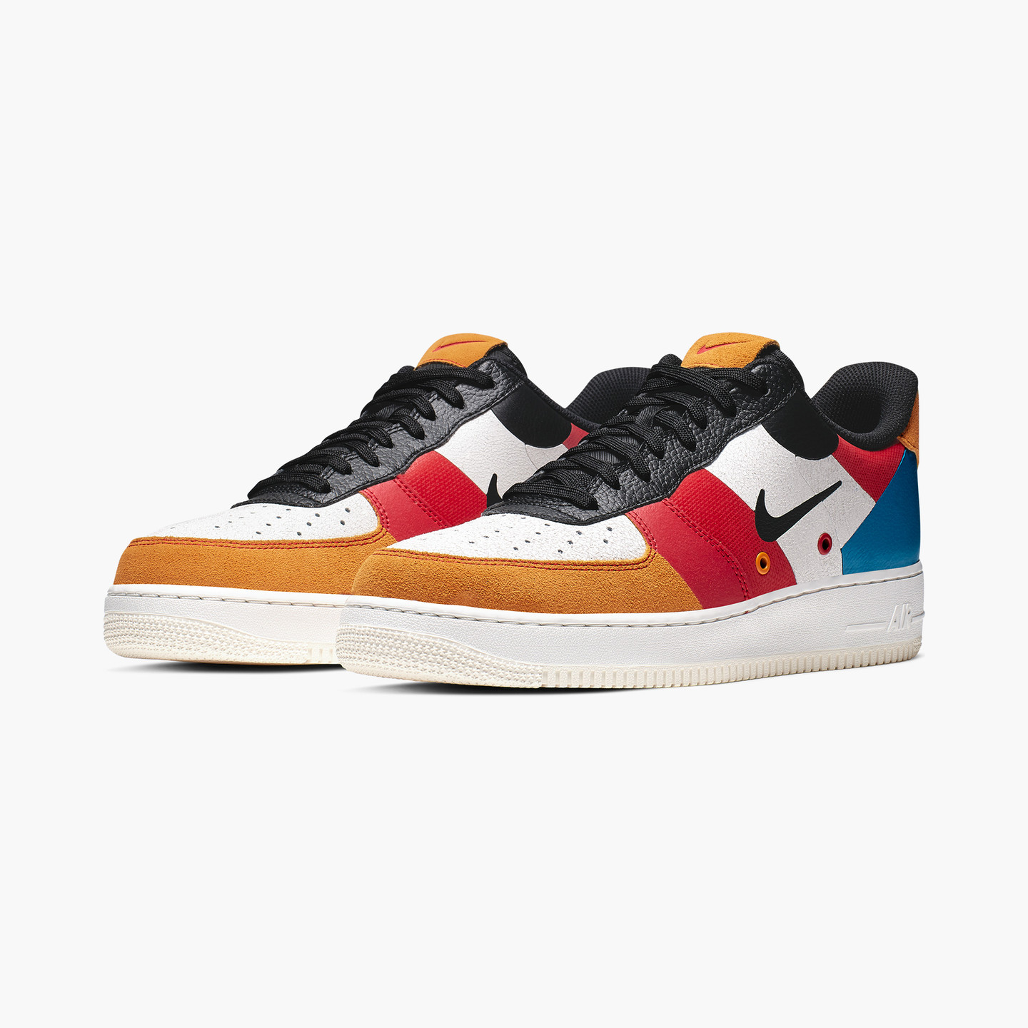 Nike Air Force 1 ´07 Low Premium Sail / Black / Imperial Blue / Amber Rise CI0065-101