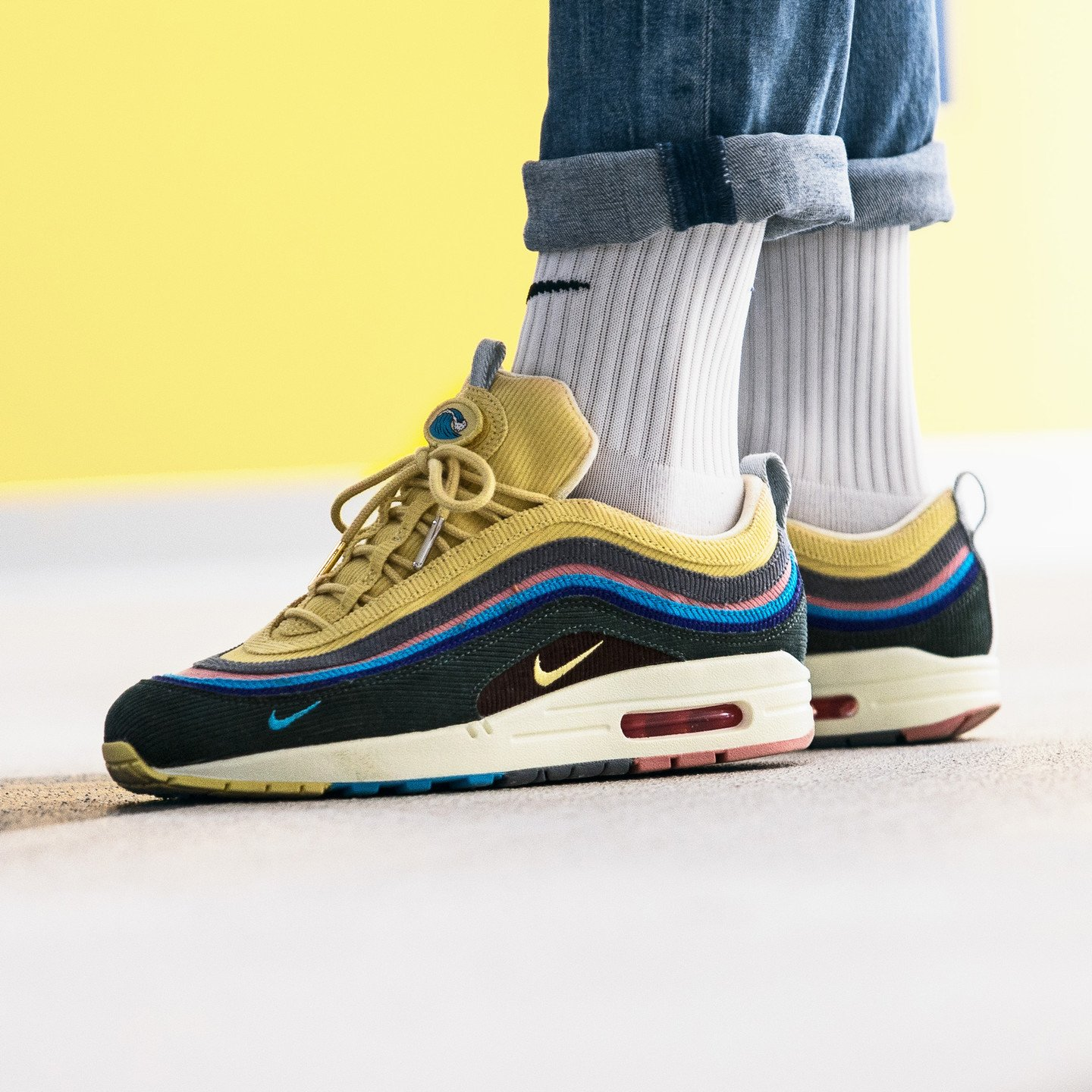 Nike Air Max 1/97 VF 'Sean Wotherspoon' Lt Blue / Fury / Lemon Wash / Vintage Green AJ4219-400