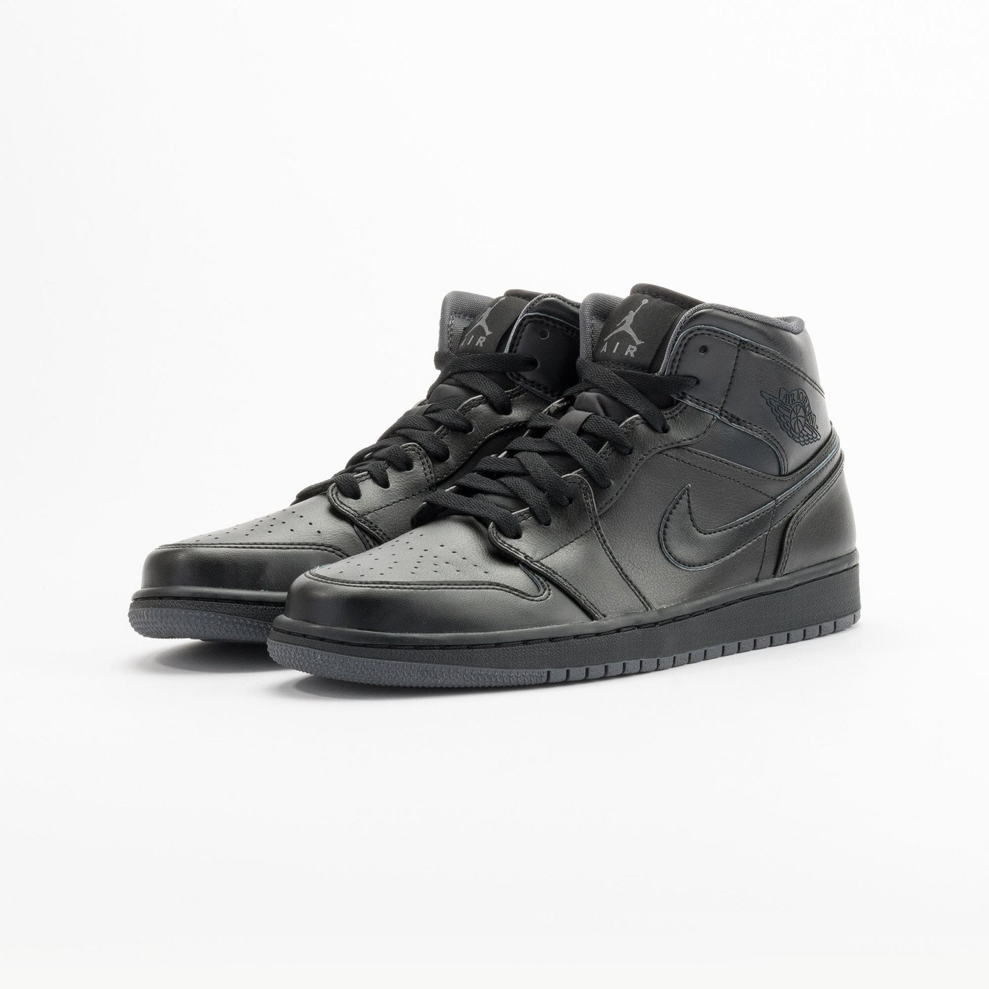 Nike Air Jordan 1 Mid Black / Dark Grey 554724-021-43