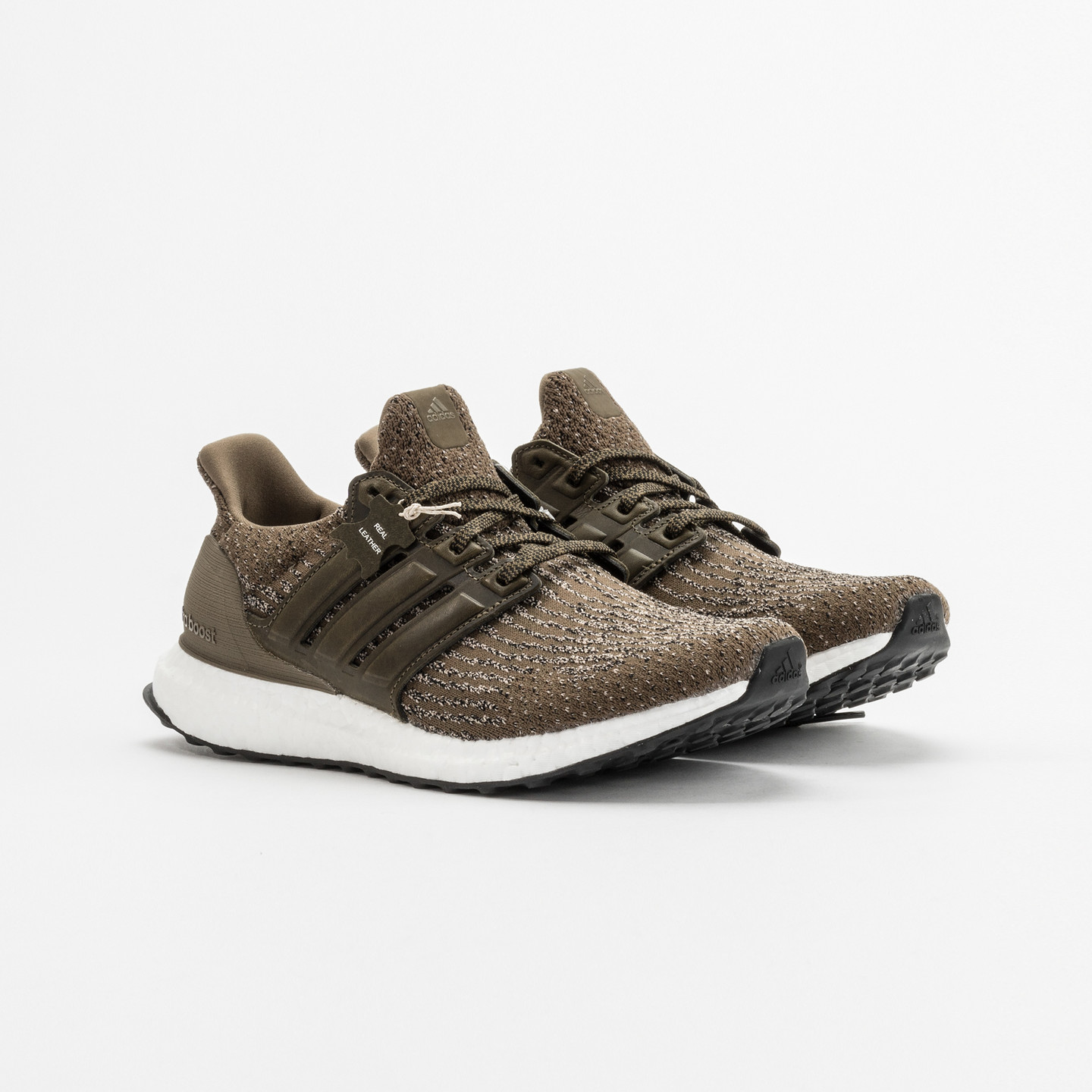 Adidas Ultra Boost 'Leather Cage' Olive Trace S82018
