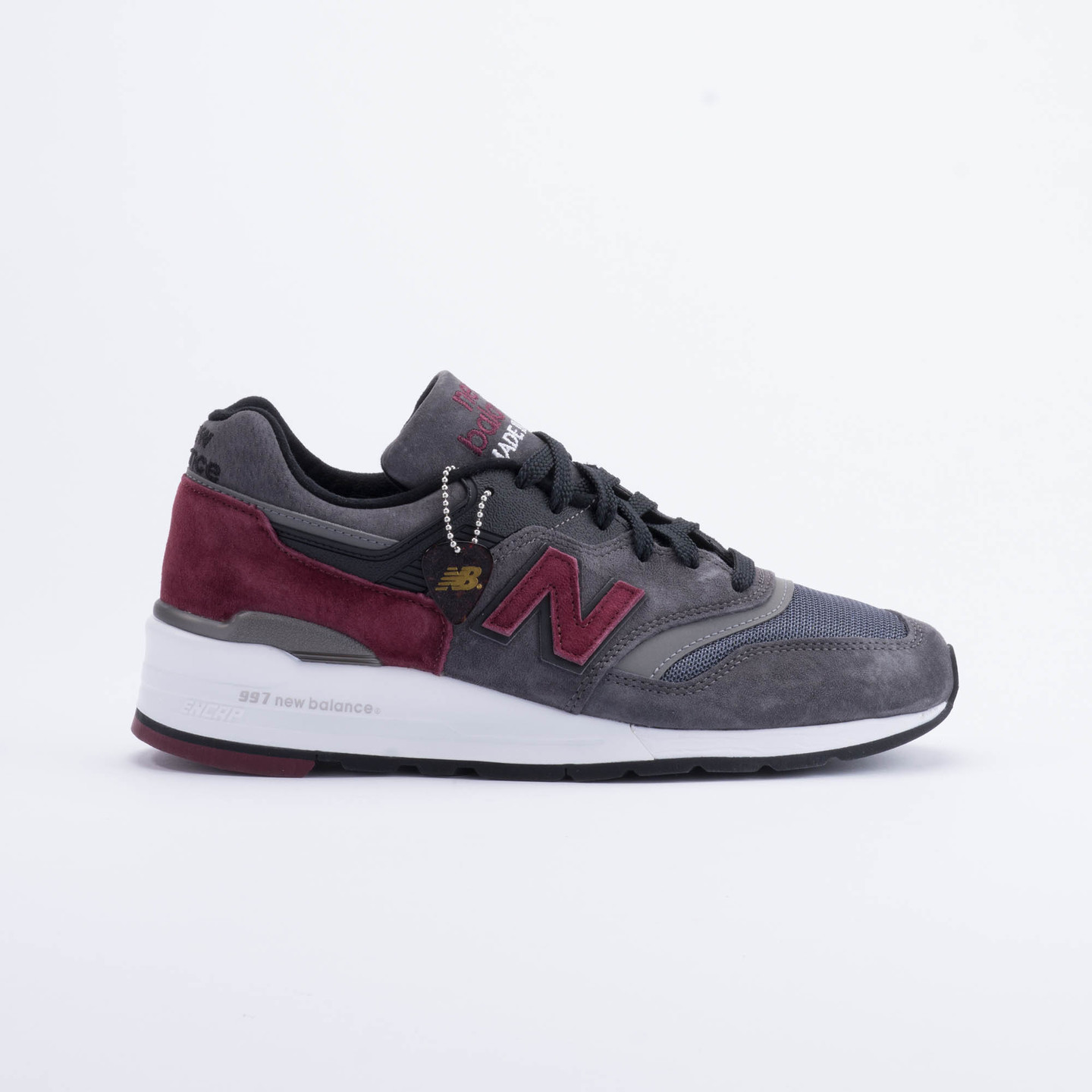 New Balance M997 Made in USA Charcoal/Burgundy M997CCF-41.5
