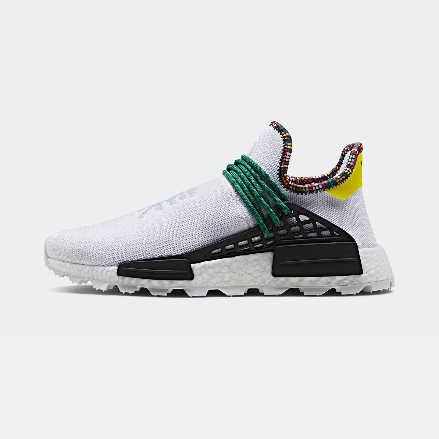 Adidas Pharrell Williams 'Solar HU' NMD Footwear White / Bold Green / Bright Yellow EE7583