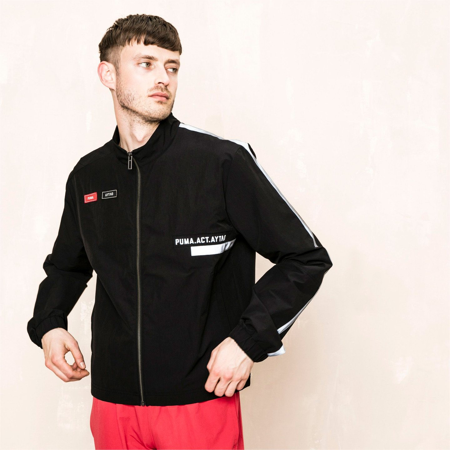 Puma Track Jacket x Outlaw Moscow Puma Black / Red / Reflective Silver 576872 01