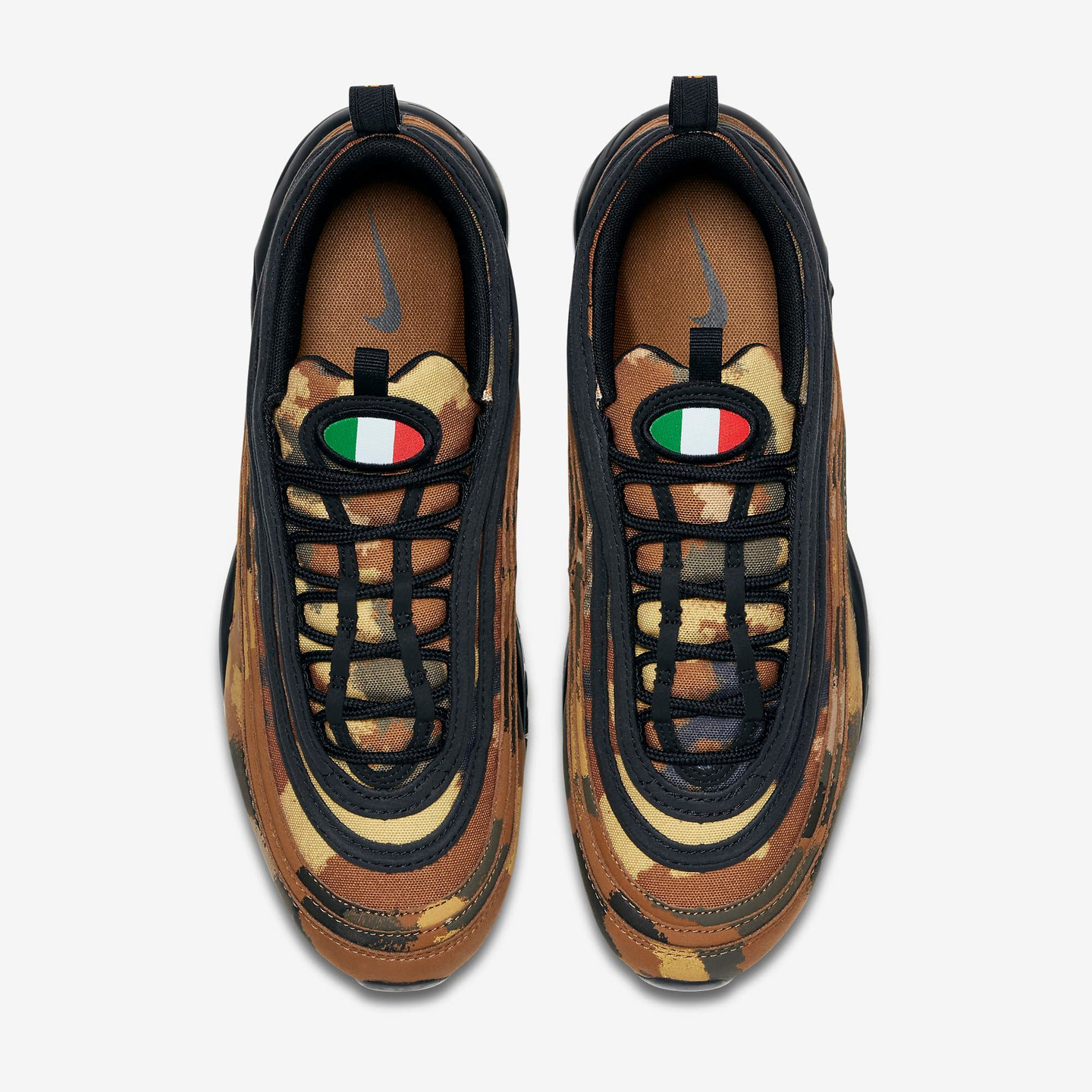 Nike Air Max 97 Premium 'Italy Camo' Ale Brown / Black / Cargo Khaki / Mushroom AJ2614-202