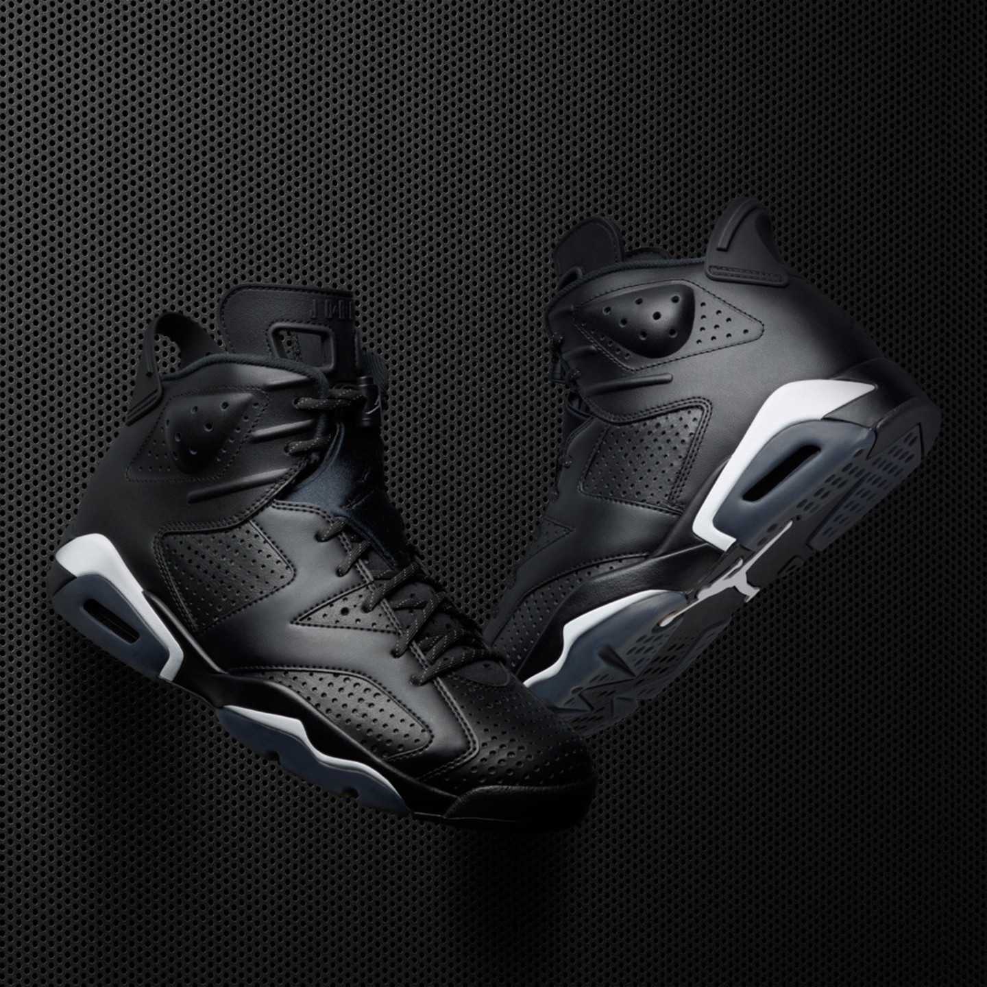 Jordan Air Jordan 6 Retro GS 'Black Cat' Black / White 384665-020-38.5