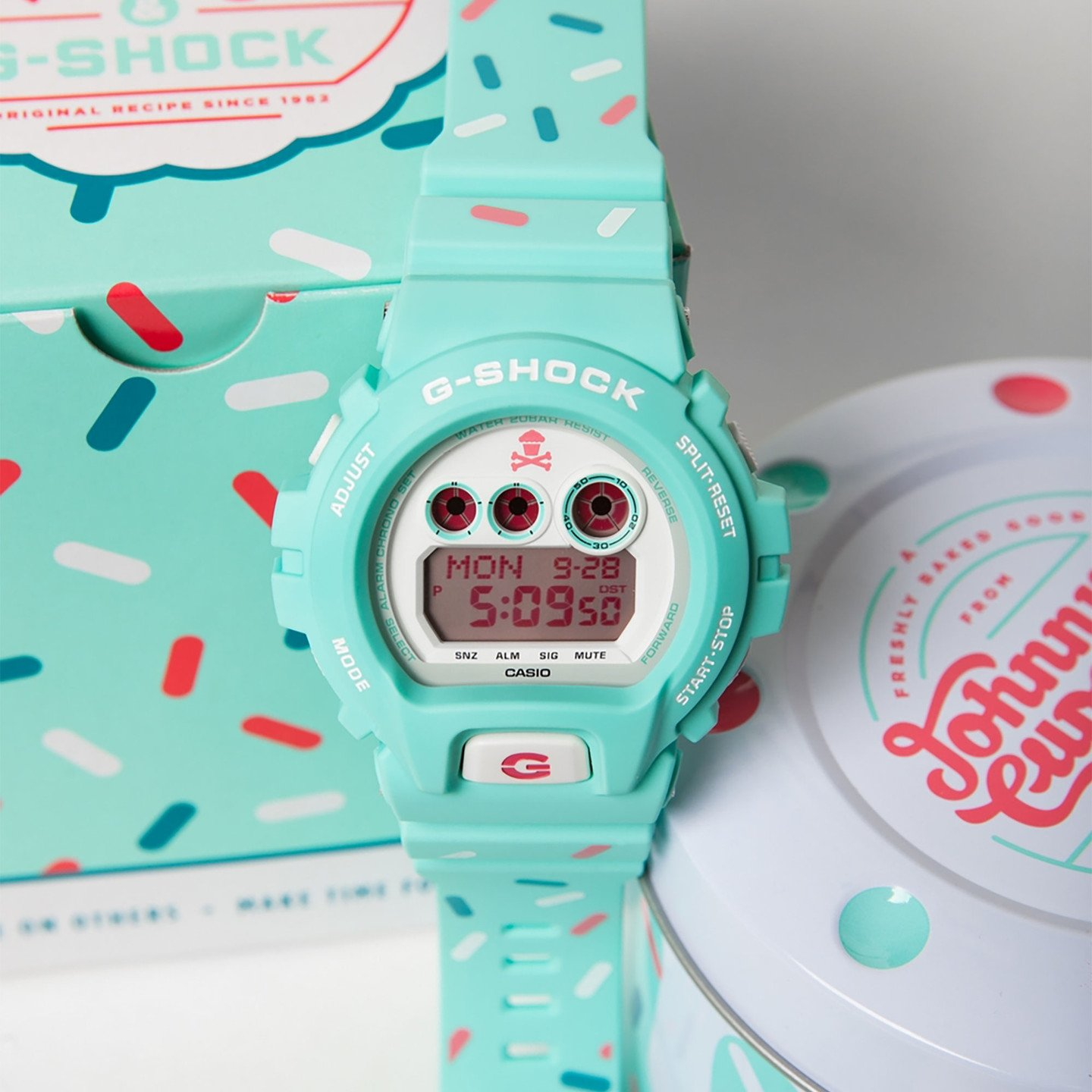 Casio G-Shock x Johnny Cupcakes Sprinkled Mint GDX6900JC-3-one-size