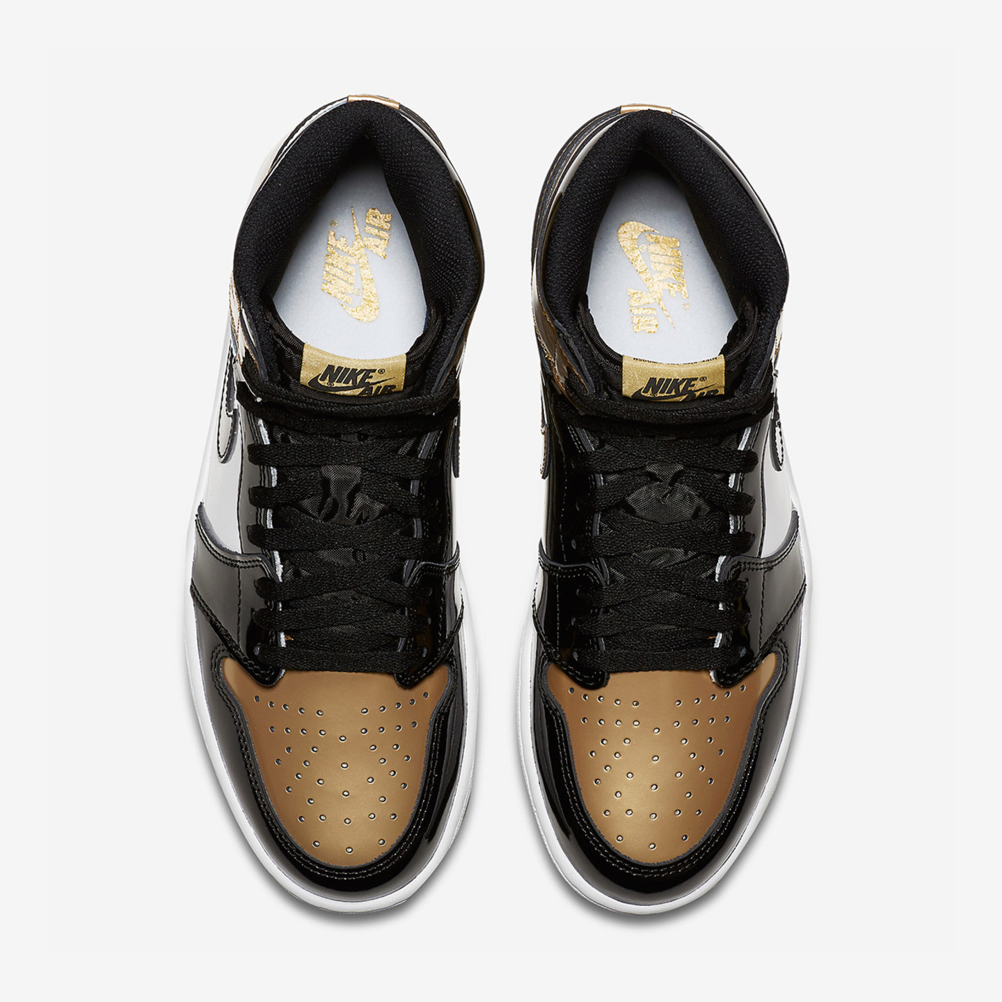 Jordan Air Jordan 1 Retro High OG NRG 'Gold Toe' Black / Metallic Gold / White 861428-007