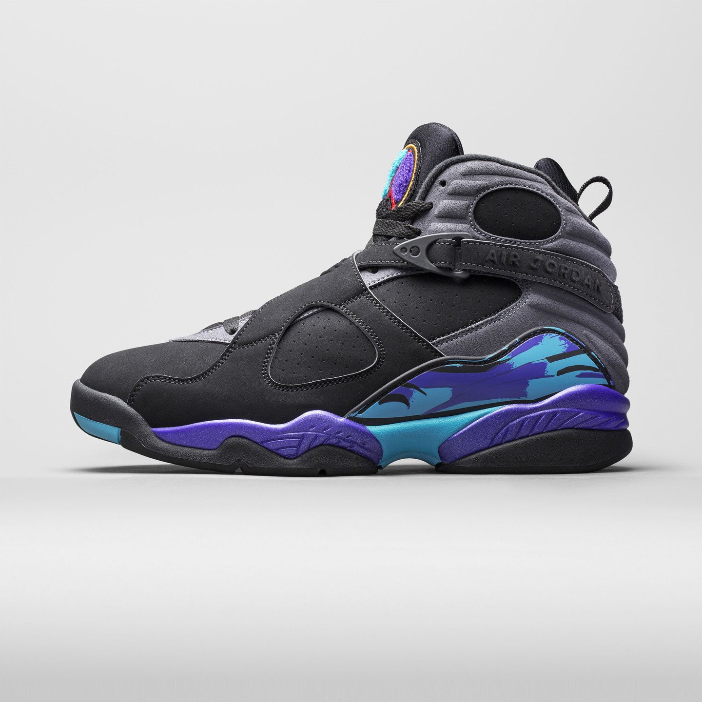 Jordan Air Jordan Retro 8 'Aqua' Black/True Red-Flint Grey-Bright Concord 305381-025-43
