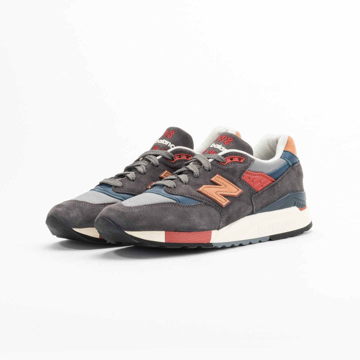New Balance M998 Made in USA Dark Grey / Beige / Red / Navy M998DBR-41.5