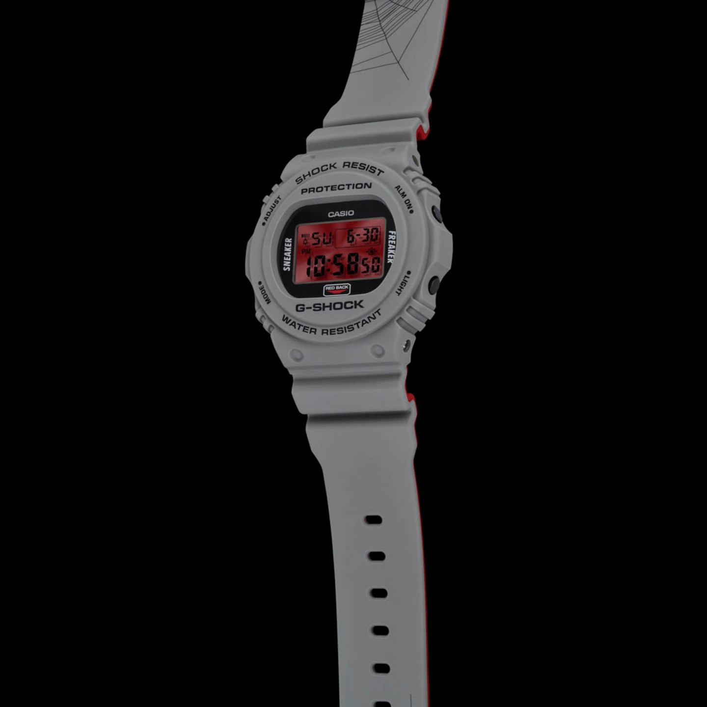 Casio G-Shock x Sneaker Freaker Cool Grey / Red / Black DW-5700SF-1ER
