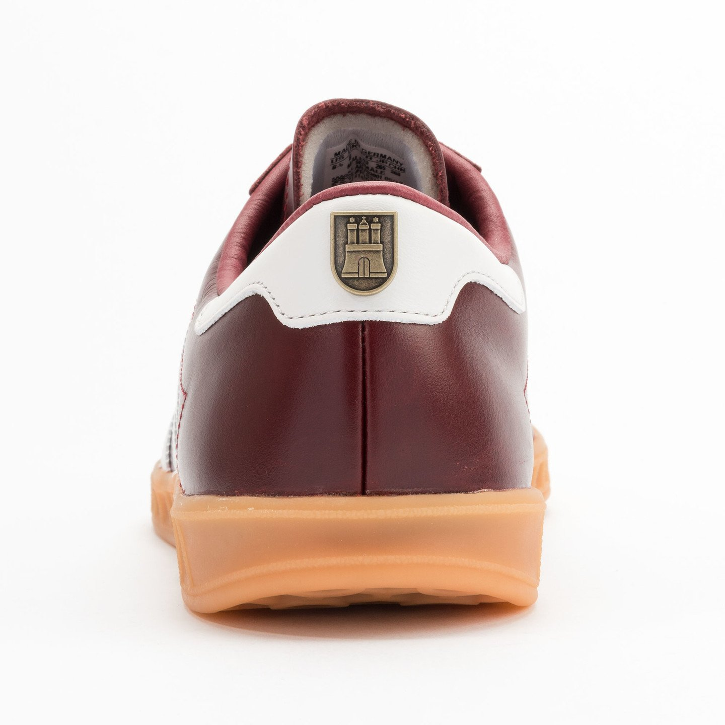 Adidas Hamburg - Made in Germany Burgundy / White / Gold / Gum S31603-41.33