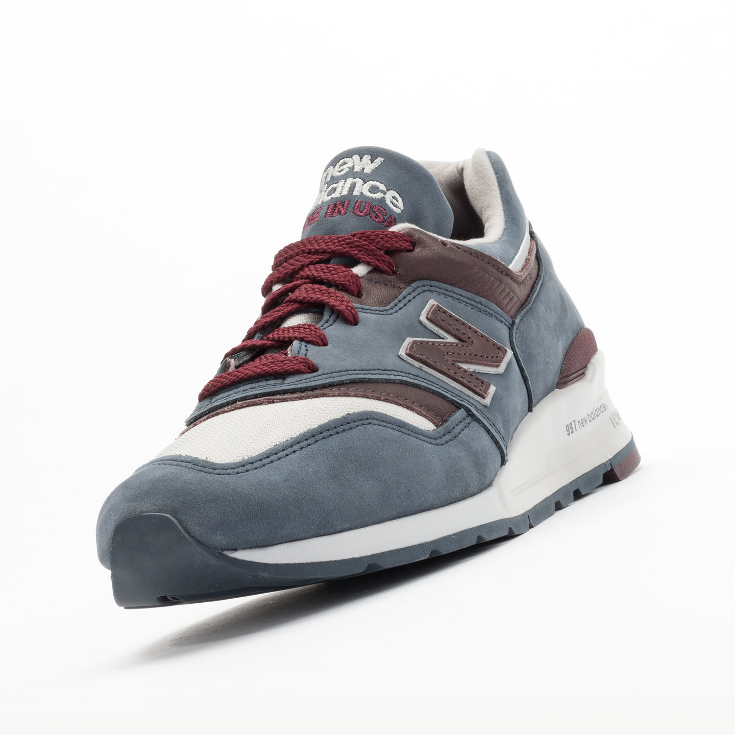New Balance M997 DGM - Made in USA Grey Steel / Burgundy M997DGM-43
