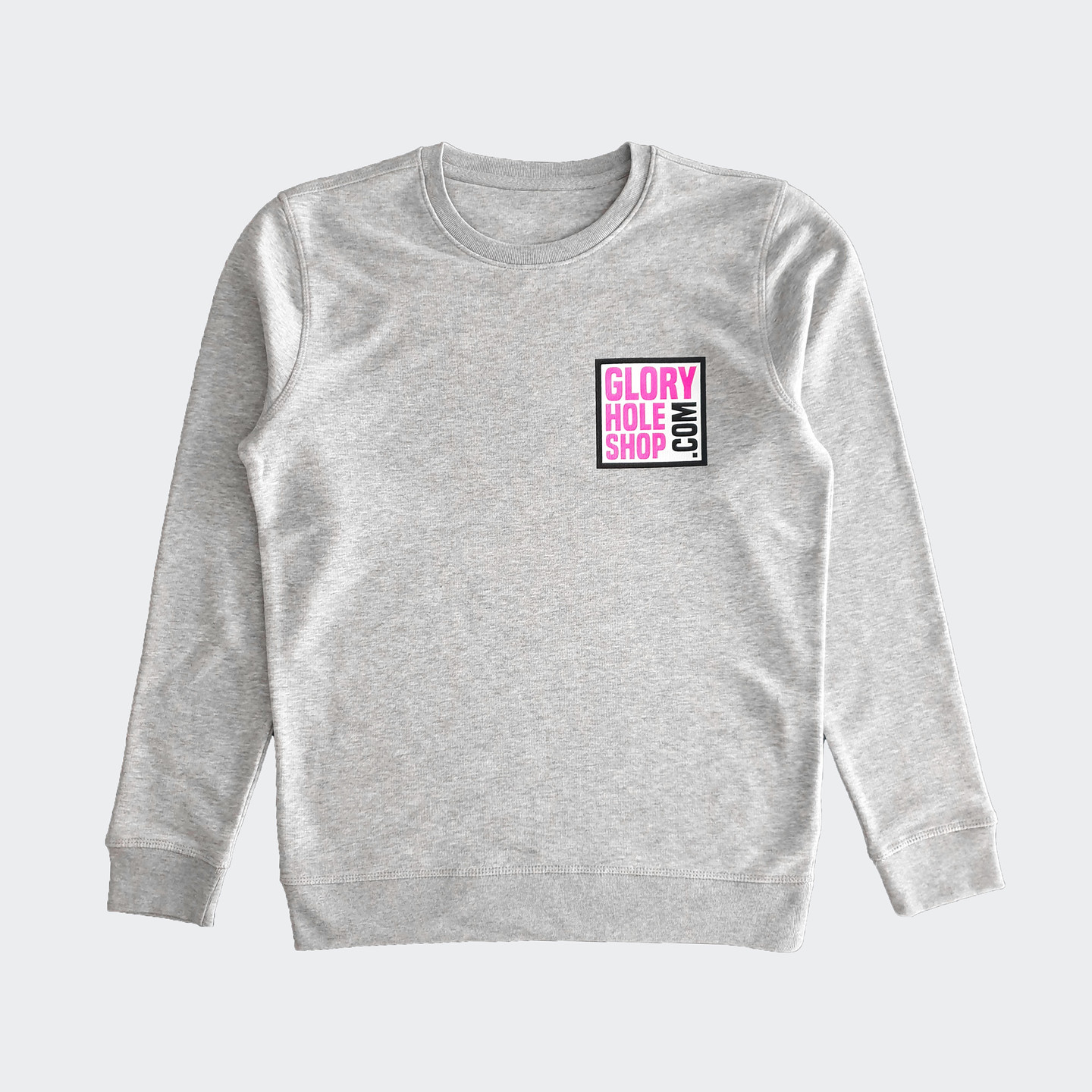 Glory Hole Logo Sweater Heather Grey / Scream Pink / Black / White GHSS-SW-HTHR-001