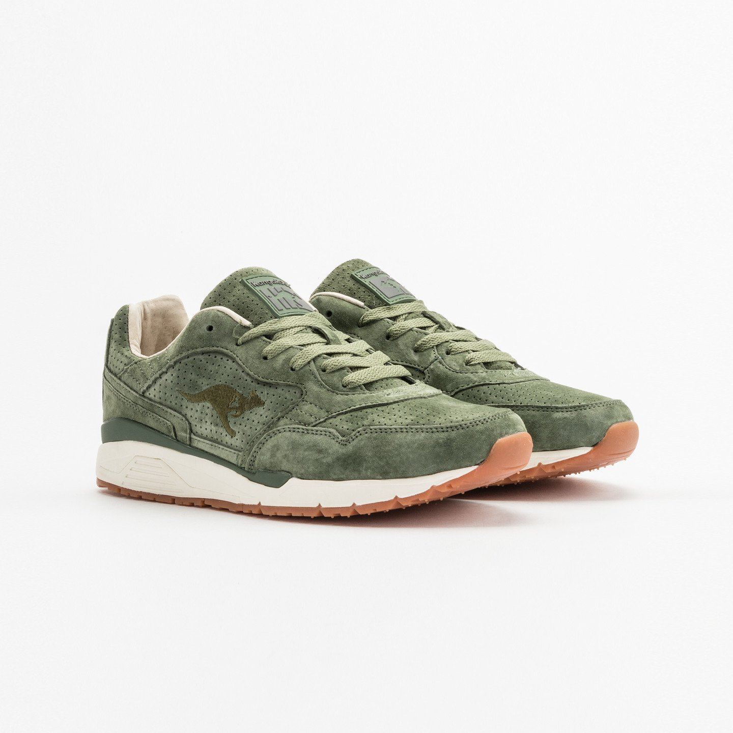 KangaROOS Ultimate Leather Olive Green / Gum 47211 000 8841