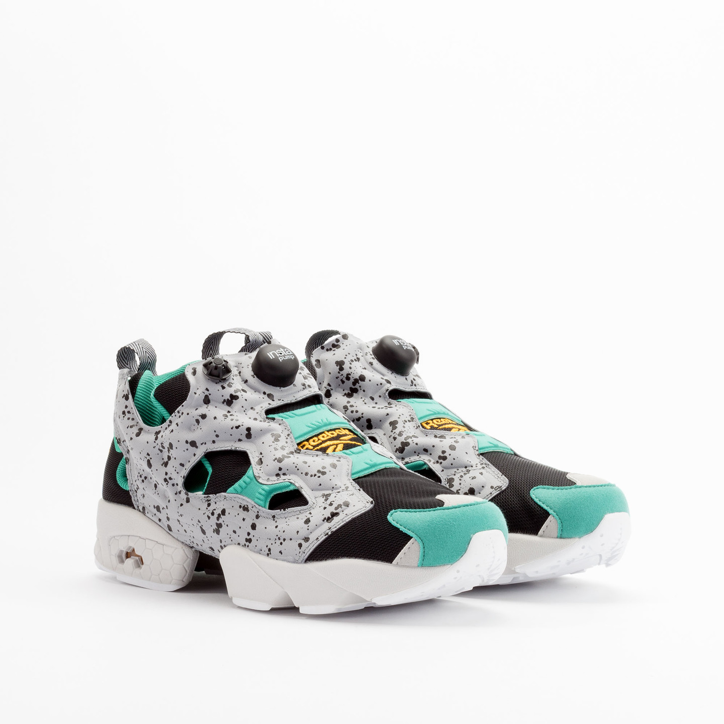 Reebok Instapump Fury SP Black / Grey / Green / Gold V66115-45